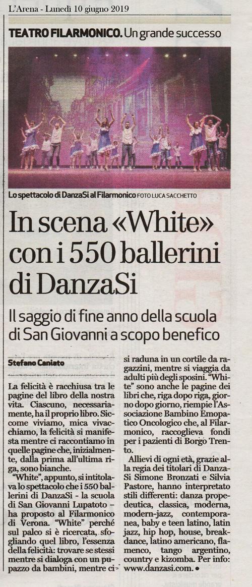 WHITE - Teatro Filarmonico di Verona 8 giugno 2019